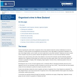 Organised crime in New Zealand — Ministry of Justice, New Zealand