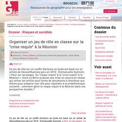 """Organiser un jeu de rôle en classe sur la """"crise requin"""" à la Réunion"""