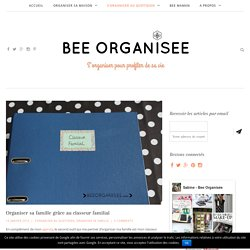 Organiser sa famille grâce au classeur familial - Bee Organisée
