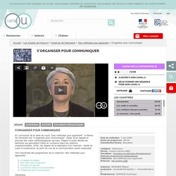 S'organiser pour communiquer - Les Amphis de France 5