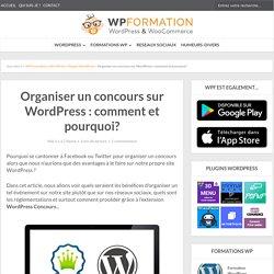 Organiser un concours sur WordPress : comment et pourquoi?