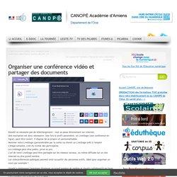 Organiser une conférence vidéo et partager des documents