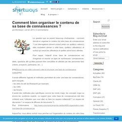 Comment bien organiser le contenu de sa base de connaissances ?
