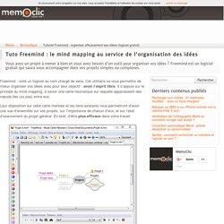 Tutoriel Freemind : organiser efficacement ses idées (logiciel gratuit)