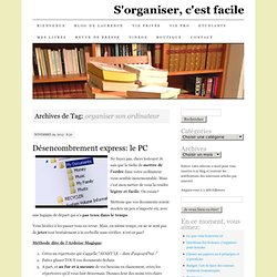 organiser son ordinateur