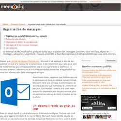 Organiser ses e-mails Outlook.com : nos conseils
