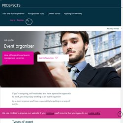 Event organiser job profile