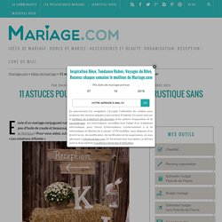 Thème mariage rustique