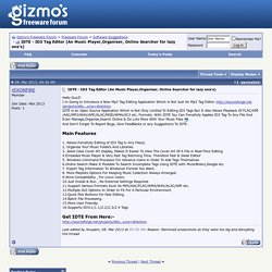 IDTE - ID3 Tag Editor (An Music Player,Organiser, Online Searcher for lazy one's) - Gizmo's Freeware Forum