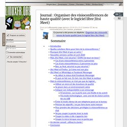 Organiser des visioconférences de haute qualité (avec le logiciel libre Jitsi Meet)