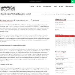Organisera och leda pedagogiska samtal – NODSTRÖM EDUCATION