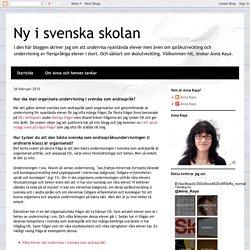 Hur ska man organisera undervisning i svenska som andraspråk?
