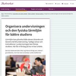 Organisera undervisningen och den fysiska lärmiljön för bättre studiero