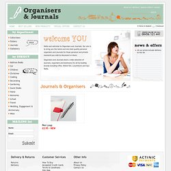 Organisers and Journals for personal and business journals and organisers