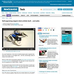 Self-organising origami robot unfolds itself… and walks - tech - 07 August 2014