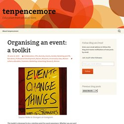 Organising an event: a toolkit