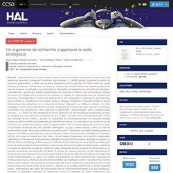 INRA 01/09/15 Un organisme de recherche s'approprie la veille stratégique