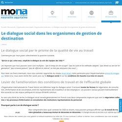 Le dialogue social dans les organismes de gestion de destination