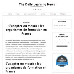 S'adapter ou mourir : les organismes de formation en France