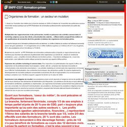 Organismes de formation : un secteur en mutation - Le blog de SNPF Formation -