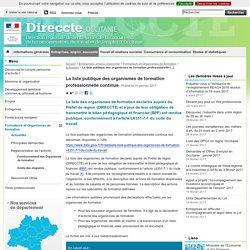 La liste publique des organismes de formation professionnelle continue - Direccte Occitanie