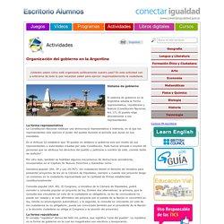 Organización del gobierno en la Argentina