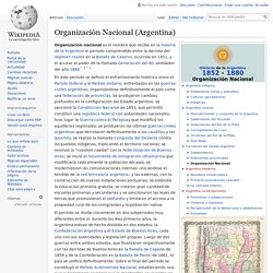 Organización Nacional (Argentina)