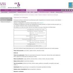 Trabajos de investigacion -4- Organización de la bibliografía (ULL)