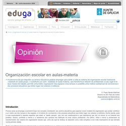 Organización escolar en aulas-materia