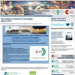 Boletín de ciencia marzo 2012 Organización de Estados Iberoamericanos para la Educación, la Ciencia y la Cultura OEI