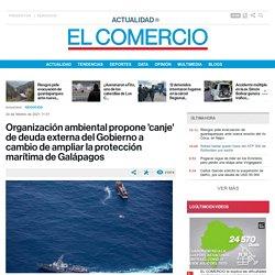 Organización ambiental propone 'canje' de deuda externa del Gobierno a cambio de ampliar la protección marítima de Galápagos