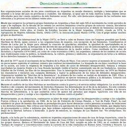 ORGANIZACIONES SOCIALES DE MUJERES