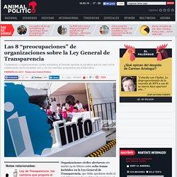 Organizaciones alertan sobre 8 temas en la Ley General de Transparencia
