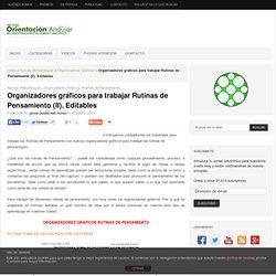 Organizadores gráficos para trabajar Rutinas de Pensamiento (II). Editables -Orientacion Andujar