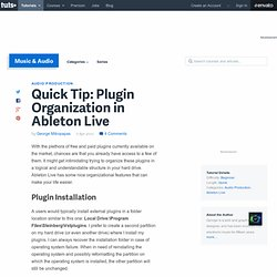 Plugin Organization in Ableton Live