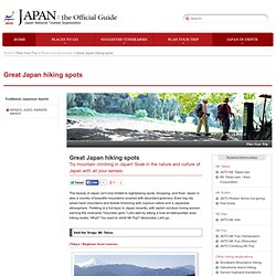 Great Japan hiking spots