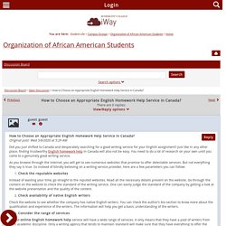 Organization of African American Students - Home