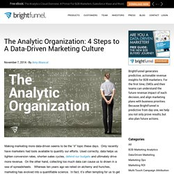 The Analytic Organization: 4 Steps to A Data-Driven Marketing Culture