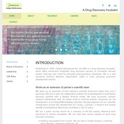 Drug discovery & Research Organization in India