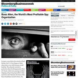 Booz Allen, the World's Most Profitable Spy Organization