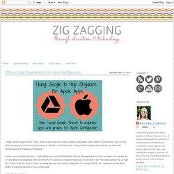 Zig Zagging : Efficient App Organization for Apple Configurator
