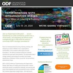 Organization Design Forum 2020 Virtual Conference