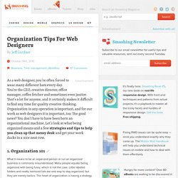 Organization Tips For Web Designers