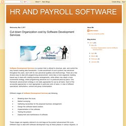 HR AND PAYROLL SOFTWARE: Cut down Organization cost by Software Development Services