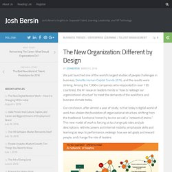 The New Organization: Different by Design
