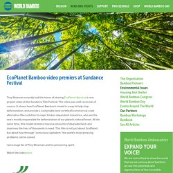EcoPlanet Bamboo video premiers at Sundance Festival
