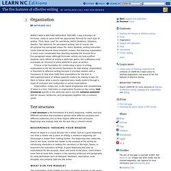 essay organization exercise