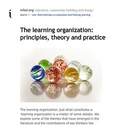 the learning organization - principles, theory and practice @ the encyclopedia of informal education