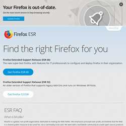 Download Firefox Extended Release Support for Your Organization, Business, Enterprise