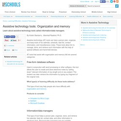 Organization and memory - Assistive Technology